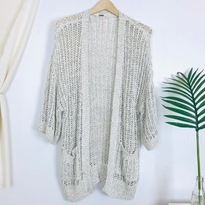 Free People knit oatmeal short sleeve cardigan